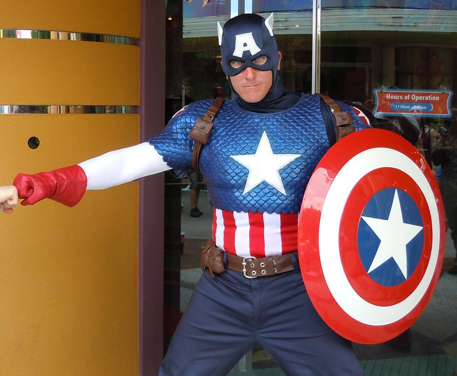 Captain America at Universal Studios Orlando