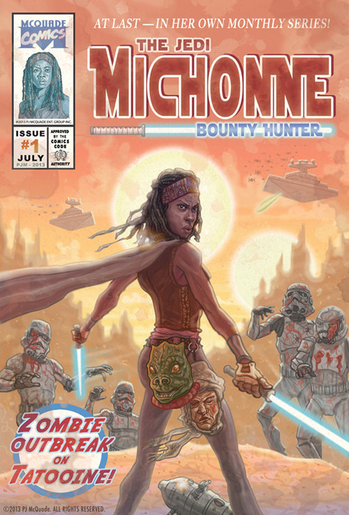 Michonne Walking Dead Star Wars Mash-Up