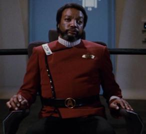 "Captain Terrell as he appears in ""Star Trek II: The Wrath of Khan"""