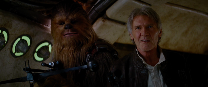 Han and Chewbacca in The Force Awakens