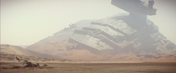 Star Destroyer Wreckage in The Force Awakens