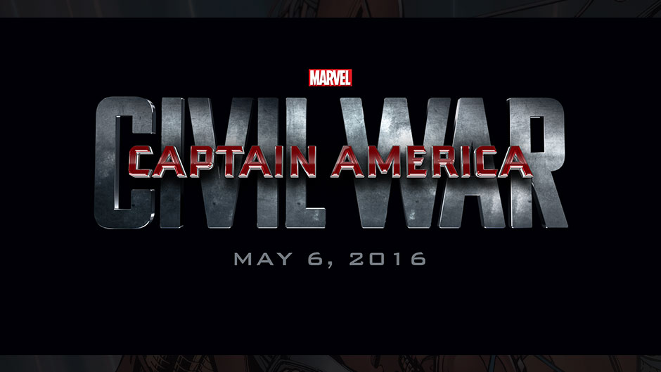 "Title card: ""Captain America: Civil War"" May 6, 2016"
