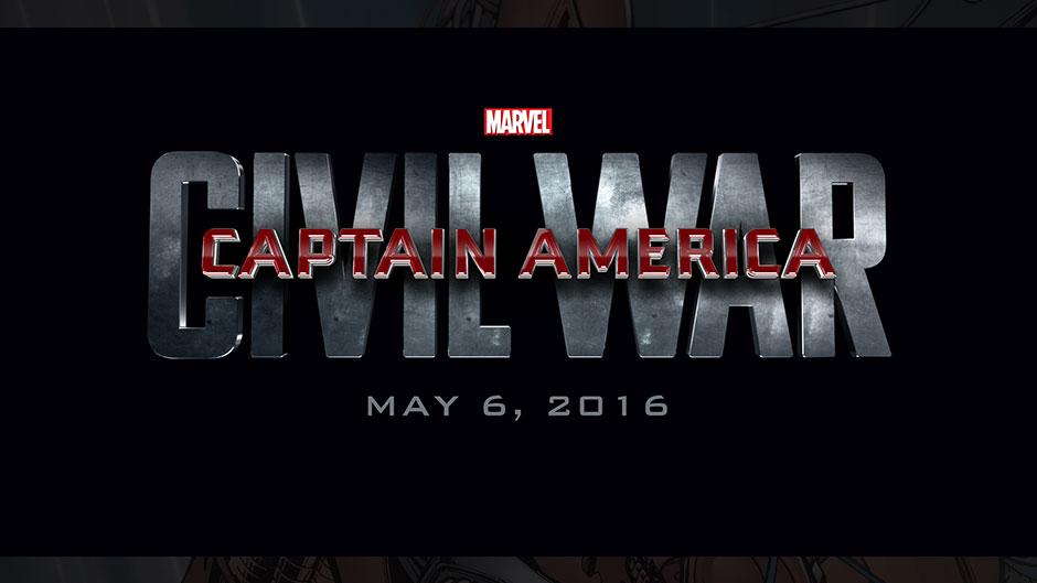 "Title card: ""Captain America: Civil War"" May 6, 2016"