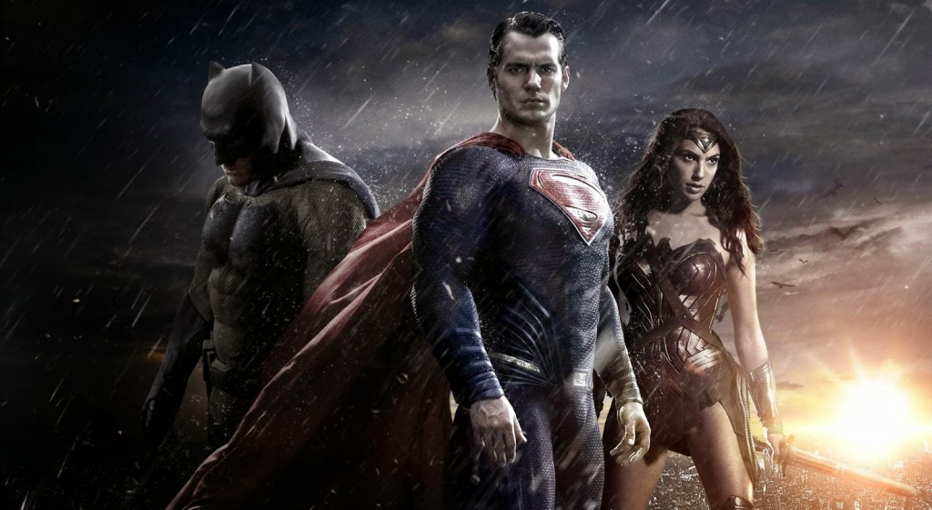 "Batman, Superman and Wonder Woman in ""Batman v Superman: Dawn of Justice"""