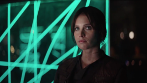 Felicity Jones as Jyn Esro in Rogue One